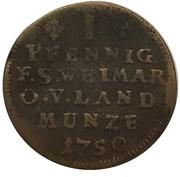 1½ pfennig Ernst August Constantin sous tutelle de Friedrich III. de Gotha – revers
