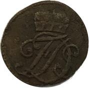 1 heller Ernst August Constantin sous tutelle de Friedrich III. de Gotha – avers