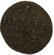 1 heller Ernst August Constantin sous tutelle de Friedrich III. de Gotha – revers
