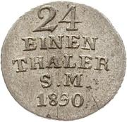 1/24 thaler Karl Friedrich – revers