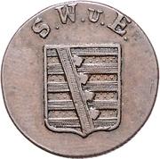 3 pfennig Karl August – avers
