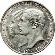 2 Mark - Wilhelm Ernst (mariage du duc) – avers