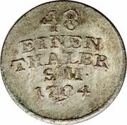 1/48 Thaler - Carl August – revers