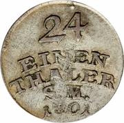 1/24 Thaler - Carl August – revers