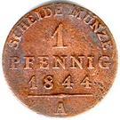 1 Pfennig - Carl Friedrich – revers