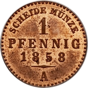 1 Pfennig - Carl Alexander – revers