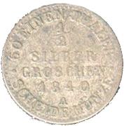 ½ Silber groschen - Carl Friedrich – revers