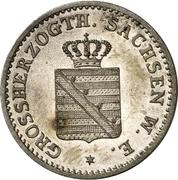 1 Silber groschen - Carl Alexander – avers