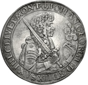 1 Thaler - Johann Georg II. (Gesamttaler) – avers