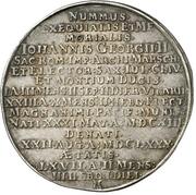 1 Thaler - Johann Georg II. (Death) – revers