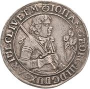 ¼ Thaler - Johann Georg III. – avers