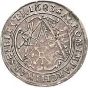 ¼ Thaler - Johann Georg III. – revers