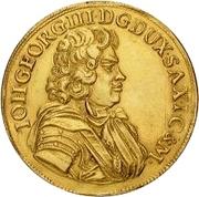 3 Ducat - Johann Georg III. – avers