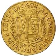 3 Ducat - Johann Georg III. – revers