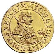 ½ Ducat - Johann Georg III. – avers