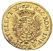 ½ Ducat - Johann Georg III. – revers