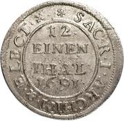 1/12 Thaler - Johann Georg III. – revers