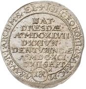 1 Groschen - Johann Georg III. (Death) – avers