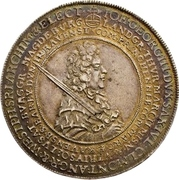 1 Thaler - Johann Georg III. (Death) – avers