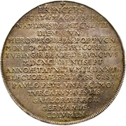 1 Thaler - Johann Georg III. (Death) – revers