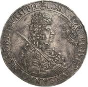 1 Thaler - Johann Georg IV. – avers