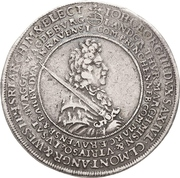 2 Thaler - Johann Georg III. (Death) – avers