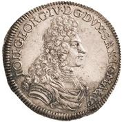 ⅓ Thaler - Johann Georg IV. – avers
