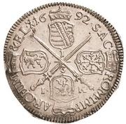 ⅓ Thaler - Johann Georg IV. – revers