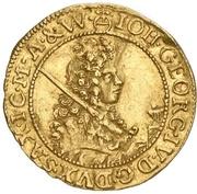 ½ Ducat - Johann Georg IV. – avers
