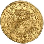 ½ Ducat - Johann Georg IV. – revers