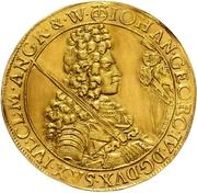 4 Ducat - Johann Georg IV. – avers