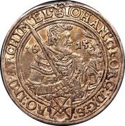 ½ thaler Johann Georg I – avers