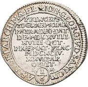 ⅙ Thaler - Johann Georg IV. (Death) – avers