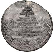 1 Thaler - Johann Georg IV. (Death) – avers