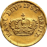 ½ Ducat - Friedrich August I. (Coronation) – revers