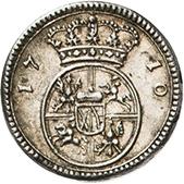 ½ Ducat - Friedrich August I. (Silver pattern strike) – revers