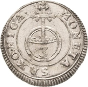 1 Dreier - Friedrich August I. – revers