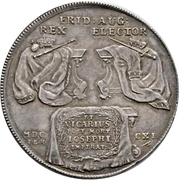 2 Thaler - Friedrich August I. (Vicariat) – revers