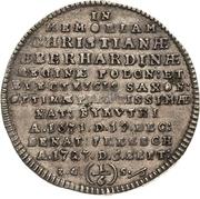 ⅙ Thaler - Friedrich August I. (Décès) – avers