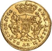 ¼ Ducat - Friedrich August II. (Vicariat) – revers