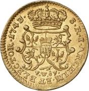 ½ Ducat - Friedrich August II. – revers