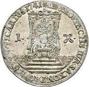 1 Groschen - Friedrich August II. (Vicariat) – revers