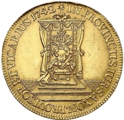 6 Ducat - Friedrich August II. (Vicariat) – revers