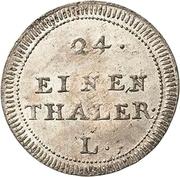 1/24 Thaler - Friedrich August II. – revers