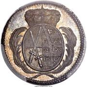 1 pfennig Friedrich August III (Frappe essai en argent) – avers