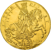 20 ducat Johann Georg II. (Vicariat) – avers