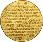 20 ducat Johann Georg II. (Vicariat) – revers