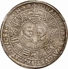 1 Thaler - Christian II, Johann Georg I, & August – revers