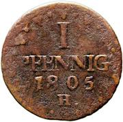 1 Pfennig - Friedrich August III – revers