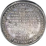 1 Thaler - Johann Georg III (Mort) – avers